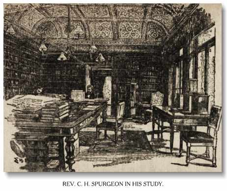 Spurgeon in his study.